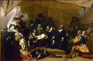 Embarkation of The Pilgrims (painting on south side of the Rotunda in the United States Capitol Building)