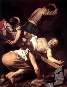 Jesus Resurrection (Crucifixion Of Peter by Caravaggio)