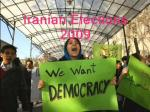 Iranians want democracy
