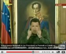 click image for video: HONDURAS - Chavez Threatens To Invade Honduras