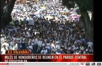 click image for video: HONDURAS protests