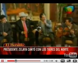 click image for video: HONDURAS Zelaya signs to Cocaine