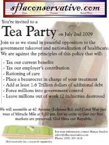 Next Tea Party Miami July 2 2009