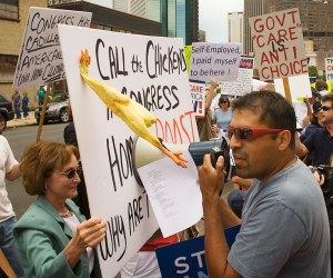Protest against ObamaCare & Nancy Pelosi - Denver, Colorado - 8/6/09