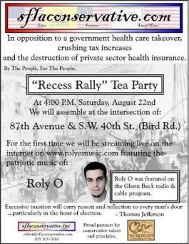 Next Miami Tea Party - Recess Rally Against Obamacare