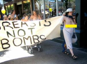 CommiesProtestLeftistsBreastsNotBombs2005-07-23a(zombietime.com)