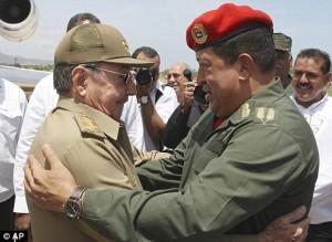 Marxist dictators Raul Castro & Chavez