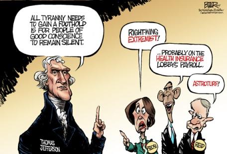 Communists Barack Obama Nancy Pelosi Harry Reid (Washington Examiner/Beeler)