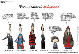 The 47 Million Lie (cartoon by MichaelRamirez/IBD)