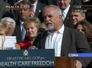 11-5 Actor John Ratzenberger (Cliff from Cheers) at DC Rally Bachmann Housecall Against Obama Healthcare