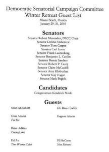 Democrats Hypocrisy - They are in bed with Lobbyists (Miami Beach Retreat, January 2010)
