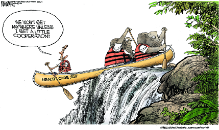 IBDeditorials Ramirez cartoon: GOP goes canoeing with Obama