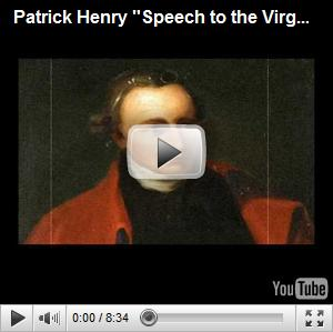 "FOUNDING FATHERS and War: ""Give me Liberty, or give me Death!"" by Patrick Henry"
