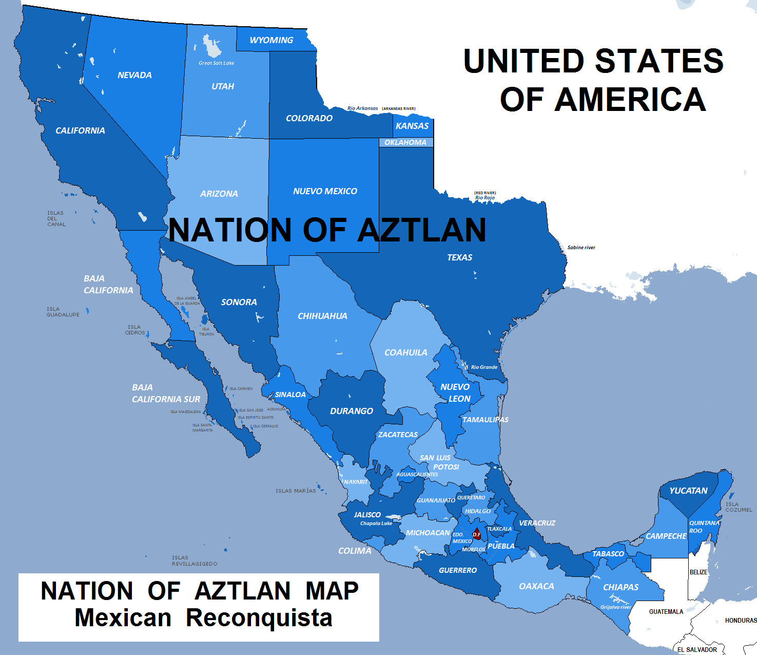 Many (LA) United States  city photos : ... United States for Mexico. They call that region Nation of Aztlán