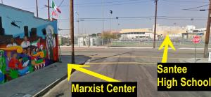 Ron Gochez' Marxist & Mexican Reconquest Center next to Santee High School in L.A. (video)