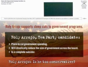 *WARNING* DEMOCRATS MAIL FLYERS TO PROMOTE FAKE-TEA-PARTY CANDIDATE ROLY ARROJO for Florida 25th congressional district (FL-25)