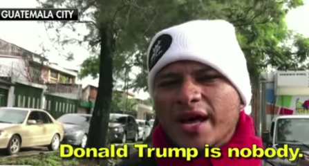 Caravan migrants from Honduras disrespect President Donald Trump.