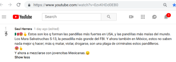 youtubeCommentBraulioCaravan