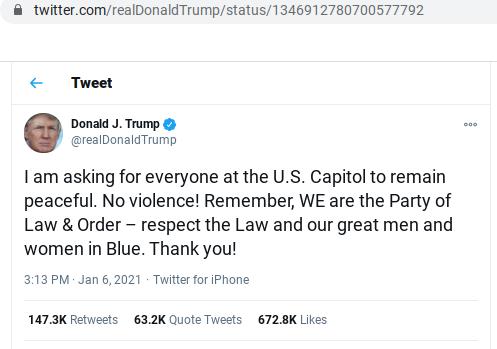 TrumpTweetCapitolBreach6Jan2020b