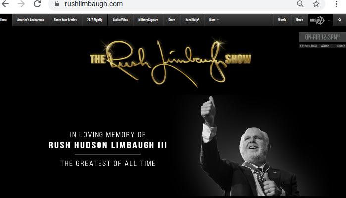 RushLimbaughDeadAge70,RIP(2-17-2021)